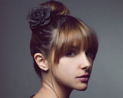 black hairstyles bun with bangs best bang hairstyles for updos haircuts and hairstyles