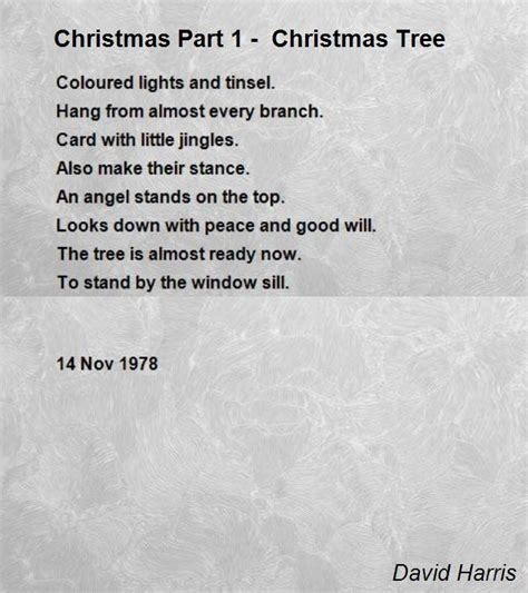 the little christmas tree poem part 1 tree poem by david harris poem
