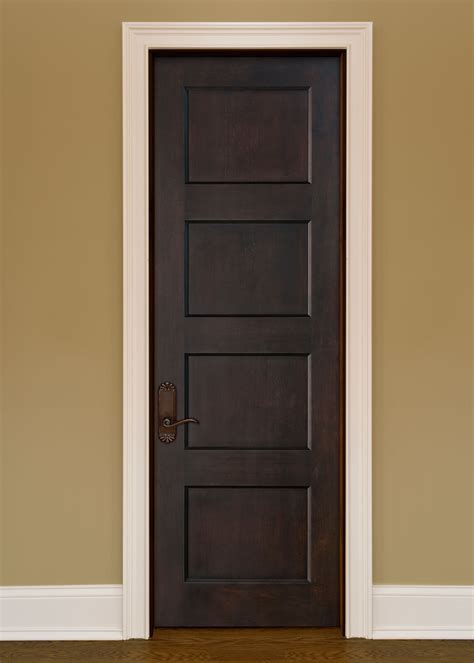 Custom Interior Doors Interior Door Custom Single Solid Wood With Espresso