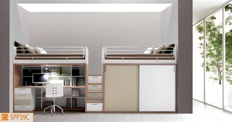 camerette con scrivania a soppalco letto a soppalco con scrivania sotto