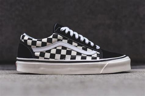 Sepatu Vans Oldskool Checkerboard Black White vans skool 36 dx black checkerboard sneaker bar detroit