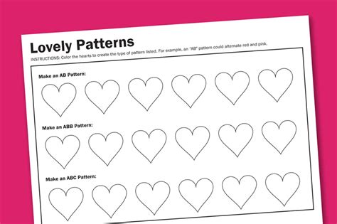 pattern games cool math patterns worksheets for preschoolers free 6 best images