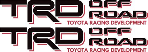 Toyota Road Decals Toyota Trd Road 4x4 Tundra Tacoma Sport Truck Decal