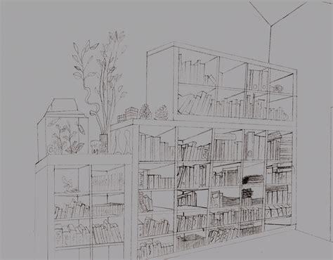 bookshelf sketch bookcase sketch by theskybax on deviantart