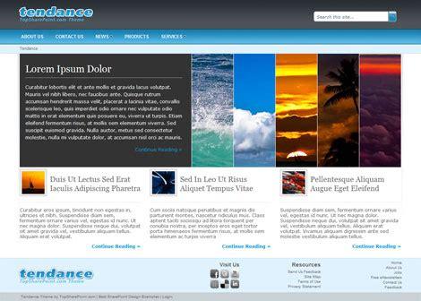 tendance free sharepoint 2010 theme best sharepoint design examples
