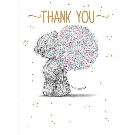 Me To You Thank You Cards thank you me to you card a01ss501 me to you bears