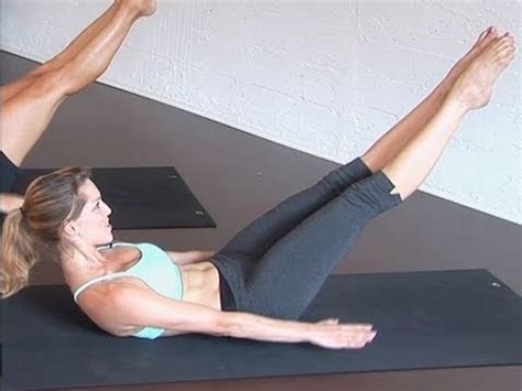 pilates for beginners 100s ab exercise