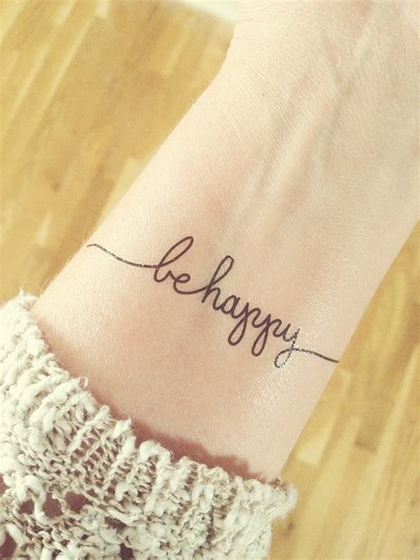 be happy tattoo 2015 focus words be happy dine and dish