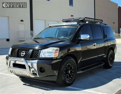 armada nissan 2005 wheel offset 2005 nissan armada slightly aggressive stock