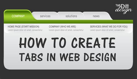 design is to design a design to produce a design how to create tabs in web design the dill design