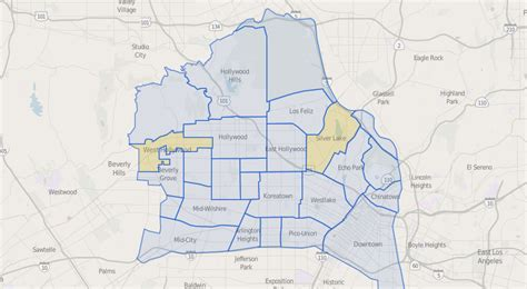map of central neighborhoods everything you need to about moving to los angeles