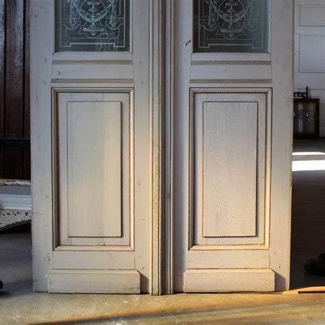 Beautiful Antique Salvaged 36 Exterior Double Doors With Salvaged Glass Doors