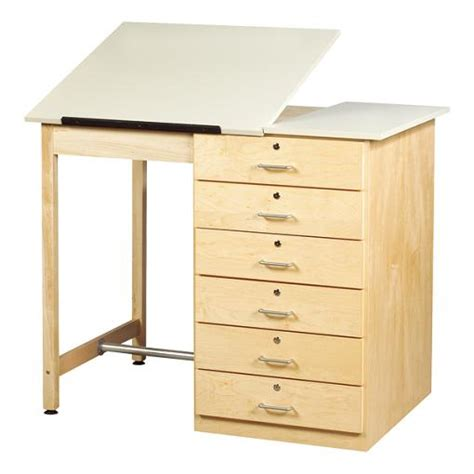 Drafting Table With Drawers Shain Drawer Base Drafting Table