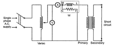 transformer impedance testing open and circuit test on transformer electrical edition