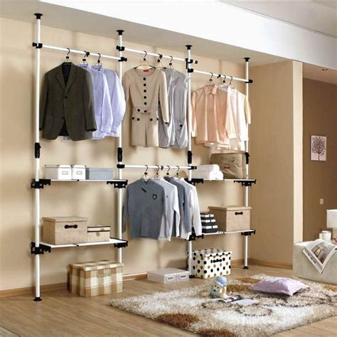 open closet ideas pipe shelves design storage diy open closet with