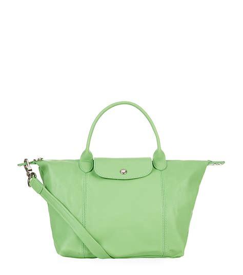 Le Pliage Green Msh longch le pliage cuir small handbag in green lyst