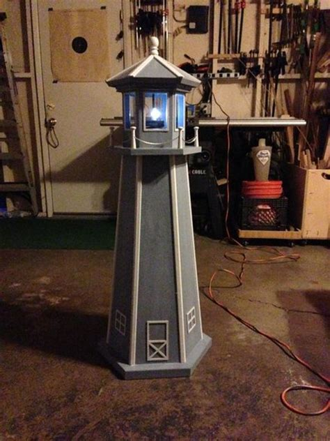 build  lighthouse   wood wood hand railing