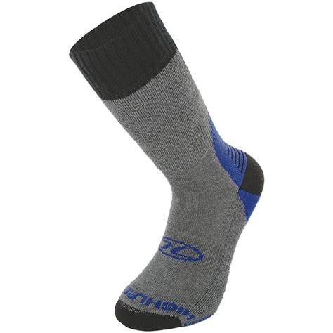 walking socks highlander mens explorer coolmax hiking sock trekking walking socks grey blue ebay