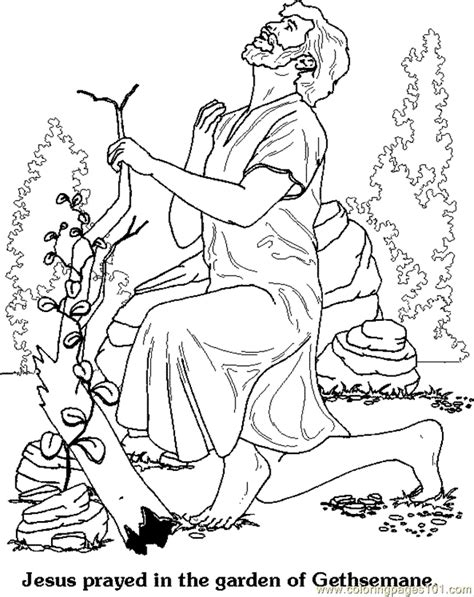 coloring page of jesus praying in the garden of gethsemane coloring pages gethsemane world gt garden free printable coloring page