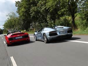 audi r8 v10 vs lamborghini murcielago autos post