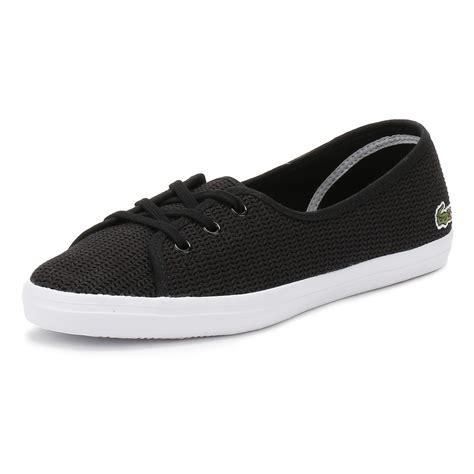 Ransel Lacoste Classic 115 1 lacoste womens black ziane chunky ballerinas flat casual shoes 217 1 caw ebay