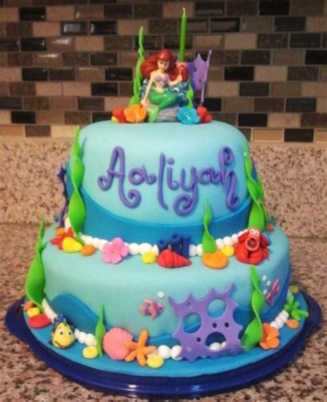 Ariel Cake Decorations by Mermaid Cake Cakecentral