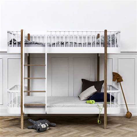 Scandinavian Bunk Beds Scandinavian White Or Oak White Bunk Bed By Nubie Modern Boutique Notonthehighstreet