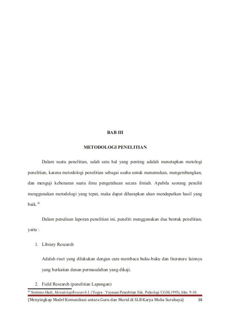 Buku Metodologi Riset Sutrisno Hadi Kh menyingkap model sosiologi komunikasi antara guru dan