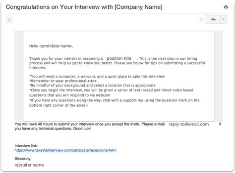 email reply to interview invitation availability