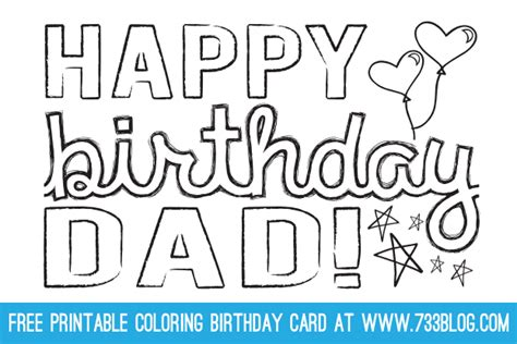 printable birthday cards dad dad grandpa printable coloring birthday cards