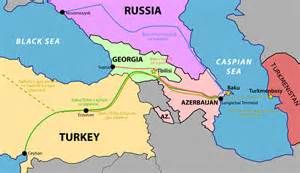 where is tbilisi on world map a map showing the baku tbilisi ceyhan pipeline origins