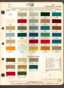 1971 ppg industries automotive paint chip chart commercial colors ford int advintage plus