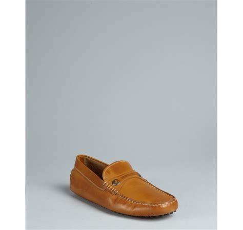 light in loafers tod s light brown leather loafers in brown for lyst