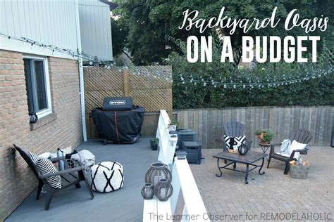 creating a backyard oasis on a budget remodelaholic transform your backyard into an oasis on a