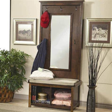 walnut entry hall mirror with shelf hallway entryway hall tree bench coat rack storage shoe