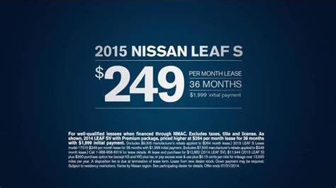 nissan leaf ads 2015 nissan leaf s tv spot 100 electric ispot tv