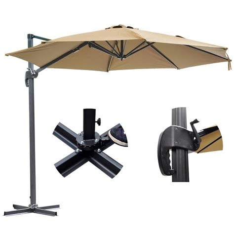 10 offset patio umbrella 10 deluxe patio hanging roma offset umbrella outdoor