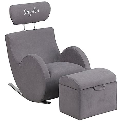 personalized kid chair ottoman buy flash furniture personalized rocking chair and