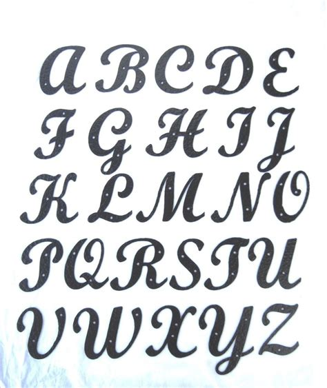lettere alfabetiche standard script hammered wrought iron alphabet letters ebay