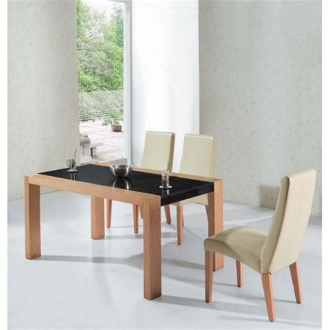 colorado oak and marble effect dining table with 6 b19