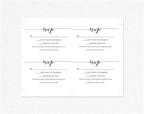 rsvp card template 2 per sheet rsvp card printable template diy wedding templates and