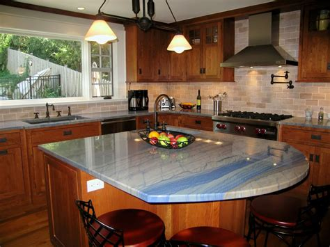 granite islands kitchen azul macaubas granite installed design photos and reviews