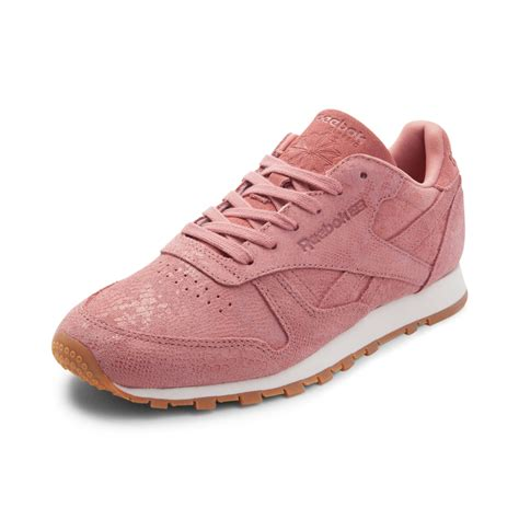 womens reebok classic athletic shoe pink 480847