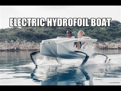 hydrofoil boat youtube electric hydrofoil boat youtube