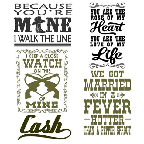 in the kitchen country song i walk the line svg cuttable designs