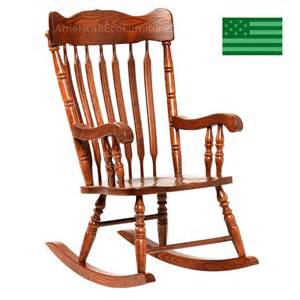 Rocking chair solid wood made in america american eco furniture