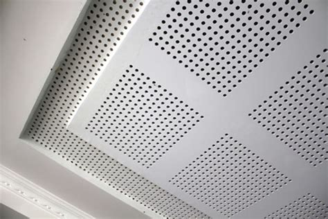 Perforated Plasterboard Ceiling by Perforated Plasterboard Acoustic Panels Sontext