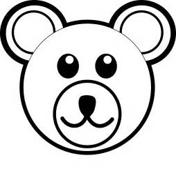 bear black and white teddy bear clipart black and white