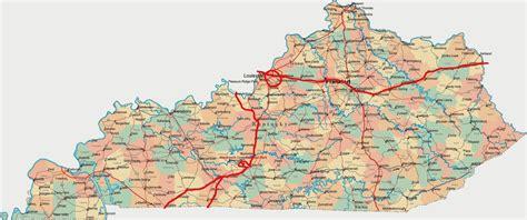 road map of kentucky usa kentucky road map swimnova