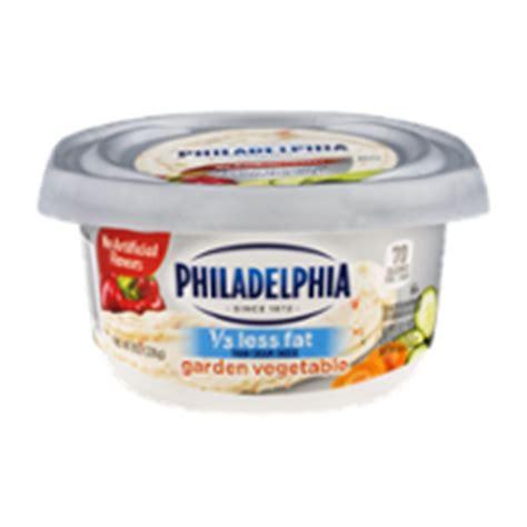 Philadelphia Cream Cheese Garden Vegetable 1 3 Less Fat Garden Vegetable Cheese Recipe